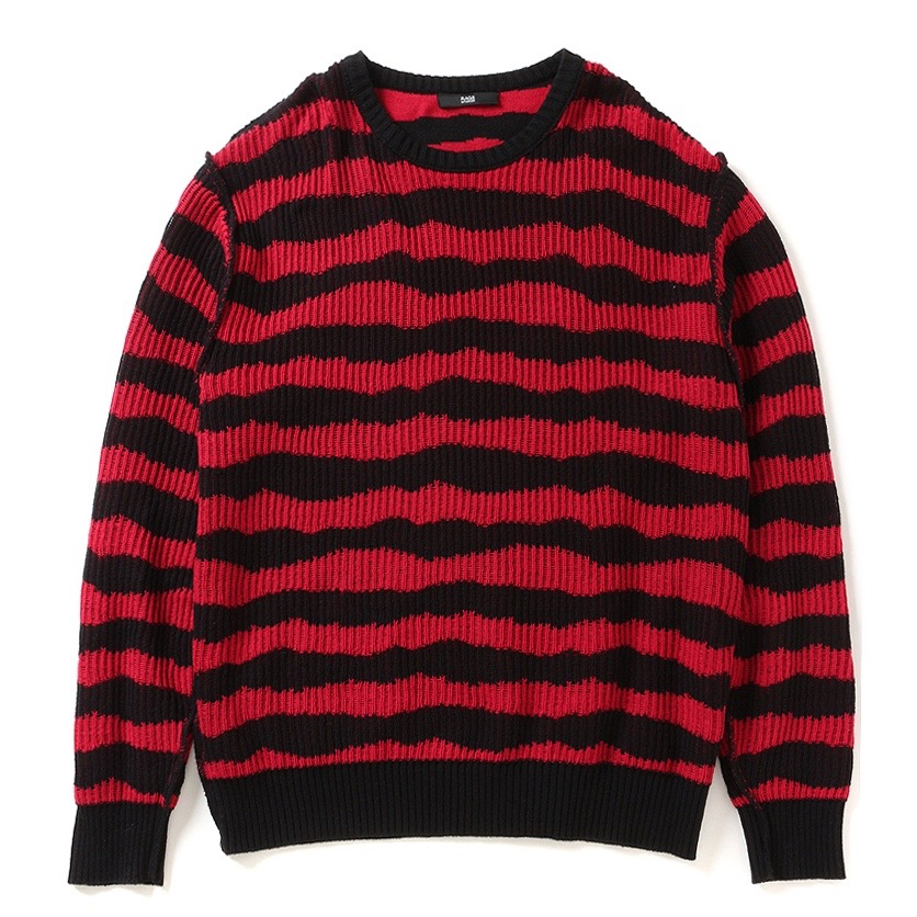 Rags McGREGOR BORDER CREW NECK KNIT SWEATER