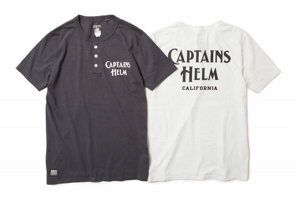 CAPTAINS HELM USA MADE HENLEY TEE - CALIFORNIA