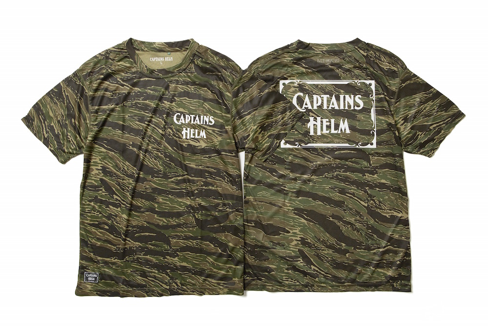 CAPTAINS HELM TIGER CAMO SURF RASH TEE