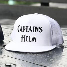 CAPTAINS HELM LOGO MESH CAP - CHT LIMITED COLOR