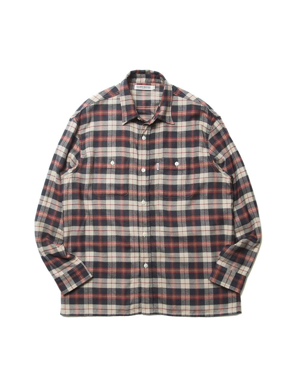 COOTIE Tartan Check Oversized Work Shirt