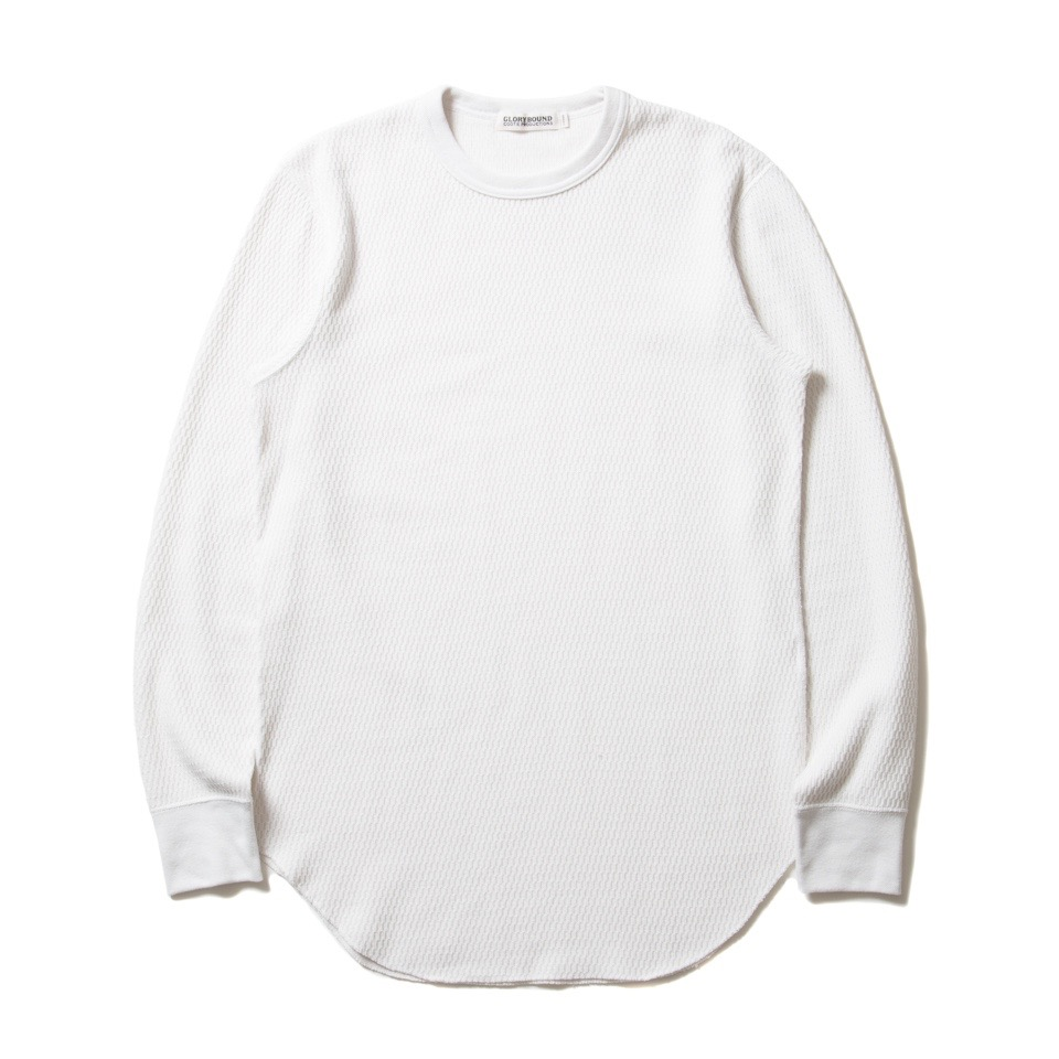 COOTIE Curved Hem Honeycomb Thermal L/S Tee