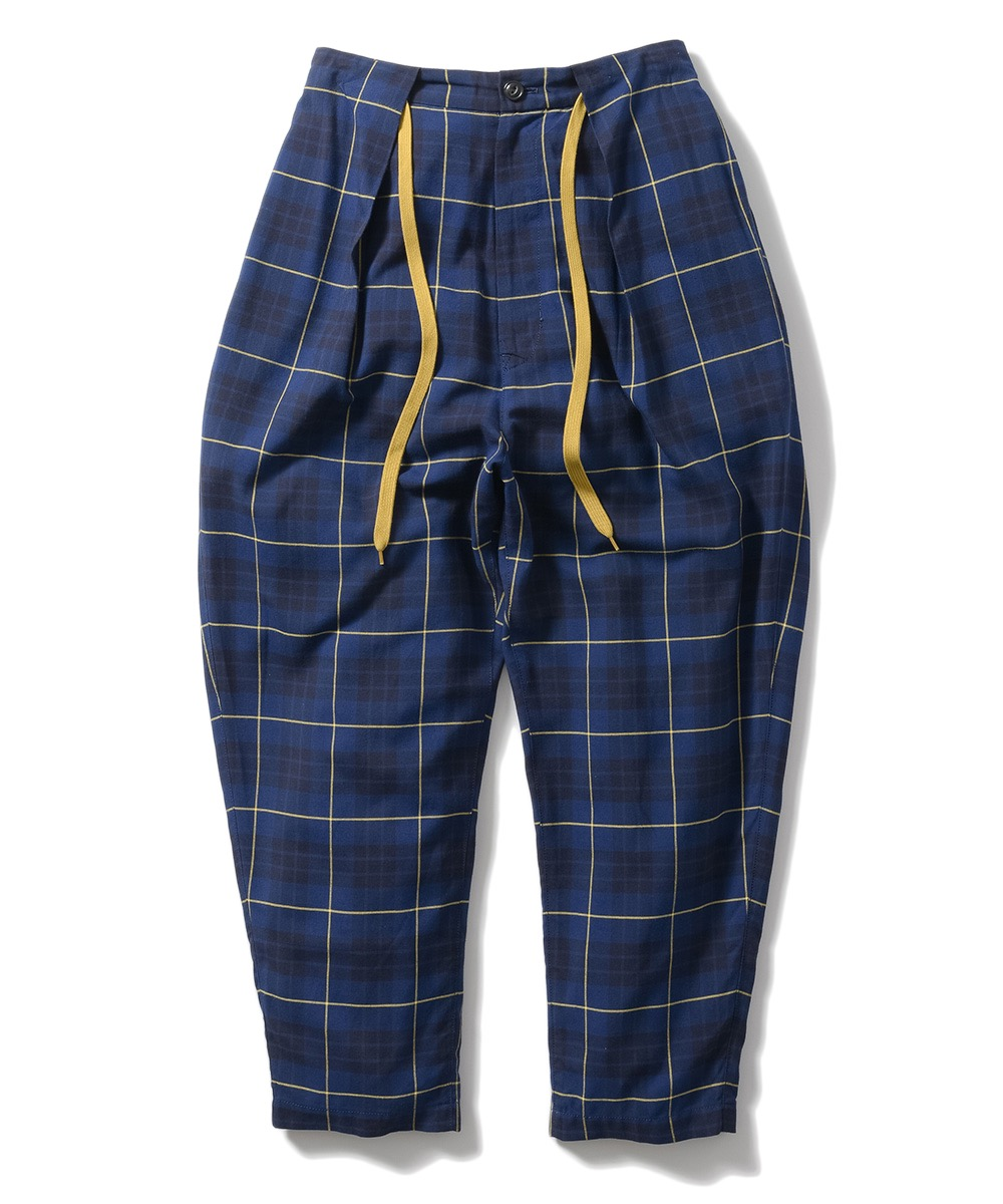Name. PLAID RAYON DRAWSTRING PANTS