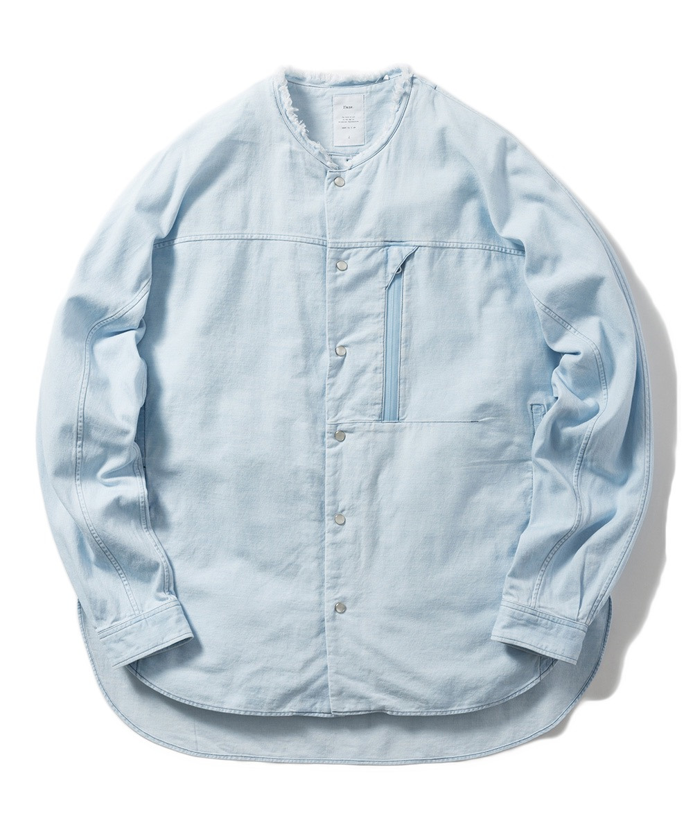 【Name.】6OZ DENIM DOLMAN SHIRT (BLEACHED)